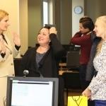Transliacijos vedėja Gabija Pankauskienė su transliacijos svečiais