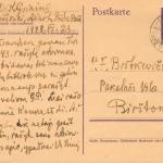 Kazio Griniaus laiškas Felicijai Bortkevičienei. 1943 m. birželio 23 d., Ąžuolų Būda-Birštonas. (F68-213).