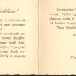 Sveikinimas Kaziui Griniui vardo dienos proga. 1928 m. kovo 4 d. (F68-376).