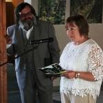 Palangos vasaros skaityklos kuratorė Vanda Kliučininkienė ir renginio vedėjas Sigutis Jačėnas