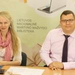 Tiesioginių transliacijų organizatorė Gabija Pankauskienė su Rytų Europos studijų centro analitiku dr. Laurynu Kasčiūnu