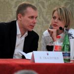 Knygos autorius Rokas Tracevskis ir knygos leidybos Italijoje kuratorė Kotryna Buono