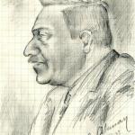 Albert Prioult (portreto autorius – E. Akmanas). Lietuvos nacionalinė Martyno Mažvydo biblioteka, Retų knygų ir rankraščių skyrius, f. 55-452