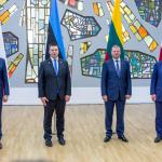 Lenkijos Ministras Pirmininkas Mateusz Morawiecki, Estijos Ministras Pirmininkas Jüri Ratas, Lietuvos Ministras Pirmininkas Saulius Skvernelis ir Latvijos Ministras Pirmininkas Māris Kučinskis