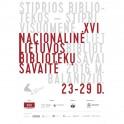 Lietuvos bibliotekininkų draugijos plakatas Nacionalinės Lietuvos bibliotekų savaitės proga