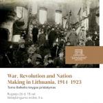 "Tomo Balkelio knygos ""War, Revolution and Nation-Making in Lithuania, 1914–1923"" pristatymas"