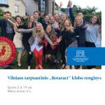 """Vilniaus tarptautinio """"Rotaract"""" klubo renginys"""