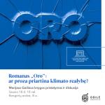 """Romano """"Oro"""" pristatymas ir diskusija"""