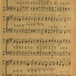 """""""Tautiškos giesmės"""" natos (pirmą kartą giesmė išspausdinta laikraštyje """"Varpas"""", 1898 m. Nr. 6)"""