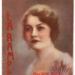 """Paryžiaus teatro naujienų žurnalo """"La Rampe"""" 1929 m. birželio numeris su Unės Baye portretu viršelyje, 1929 m."""