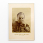Adomas Varnas, Kun. J. Mačiulis-Maironis, 1923. Litografija, 68 x 48 cm