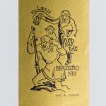 "Adolfas Vaičaitis, Exlibris ""Bernardas Brazdžionis"", 1942–1943. 10,1 x 6 cm"