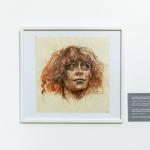 Ugnė Žilytė, Jurgos Ivanauskaitės portretas, 2017. Piešinys sepija, sangina ir pastele, 24 x 24,5 cm