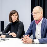 Vyriausybės strateginės analizės centro (STRATA) Strateginių kompetencijų grupėsvadovė dr. Sigita Trainauskienė ir direktorius dr. Giedrius Viliūnas
