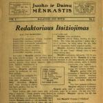"Pirmasis A. Vanagaičio ""Margutis"", 1928 m. balandis."