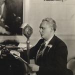 Antanas Vanagaitis radijo transliacijoje.