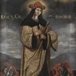 Nežinomas XIX a. liaudies dailininkas. Šv. Kazimieras. XIX a. © www.epaveldas.lt