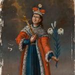 Nežinomas XIX a. II p. liaudies dailininkas. Šv. Kazimieras. XIX a. II p. © www.epaveldas.lt