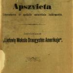 Apšvieta / už redystę atsako Martynas Jankus [fakt. Jonas Šliūpas]. – 1892–1893 © www.epaveldas.lt