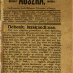 Auszra / dėl redakcijos atsiliepia J. Mikszas [fakt. Jonas Basanavičius]. – 1883–1886 © www.epaveldas.lt