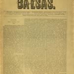 Lietuwiszkasis balsas / redytojas Jonas Šliūpas (Szlupas). – 1885–1889 © www.epaveldas.lt