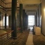 Rekonstruojamas bibliotekos atriumas 3 aukšte, 2012 m. sausio 20 d.