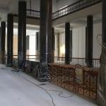 Rekonstruojamas bibliotekos atriumas 3 aukšte, 2015 m. birželio 23 d.