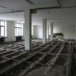 Skaityklos grindų konstrukciniai įrengimo darbai, 2009 m. kovo 5 d.