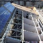 Rekonstruojamas pastato stogas ir mansardinio aukšto įrengimas, 2011 m. rugpjūčio 5 d.