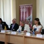 """Spaudos konferencija skirta projektui """"Europeana 1989"""" pristatyti"""