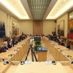 Projekto dalyviai Seimo Konstitucijos salėje