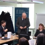 Nacionalinės bibliotekos generalinis direktorius prof. dr. Renaldas Gudauskas pristatė projekto vadovę Sandrą Leknickienę