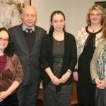 Susitikimo akimirka. Iš kairės: Roberta Newman, prof. dr. Renaldas Gudauskas, Lyudmila Sholokhova, dr. Nijolė Bliūdžiuvienė ir Sandra Leknickienė