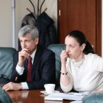 YIVO Žydų mokslinių tyrimų instituto Niujorke direktorius Jonathanas Brentas ir šio instituto skyriaus vadovė dr. Lyudmila Sholokhova