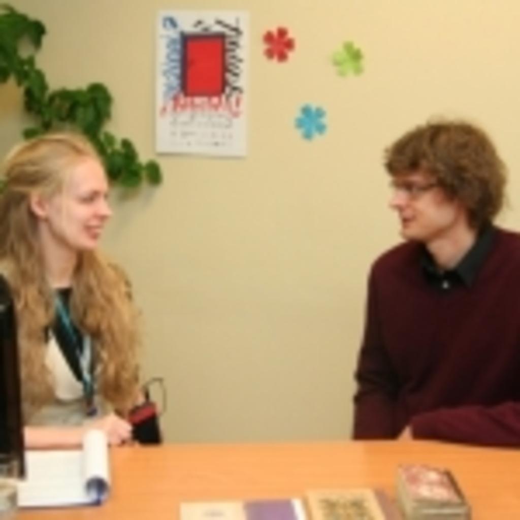 Transliacijos vedėja Gabija Daukšaitė ir Vincas Grigas
